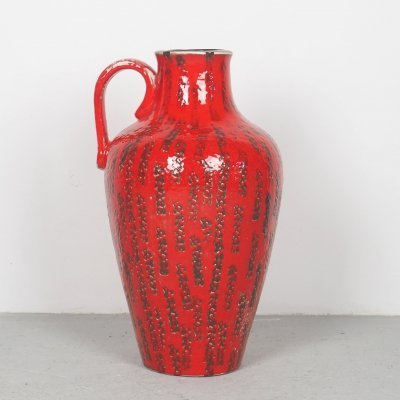 Big Fat Lava red floorvase from Cartsens, 1960's