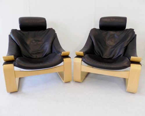 Pair of 25th anniversary limited edition (No. 59 & 60 of 250 pieces) Kroken chairs by Ake Fribyter for Nelo Mobel, 1999