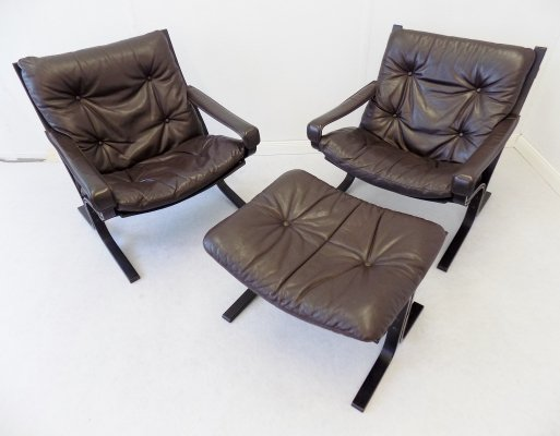 Siesta Chair set with ottoman by Ingmar Relling for Westnofa