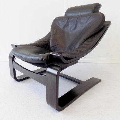 Black Kroken chair by Ake Fribyter for Nelo, 1970s