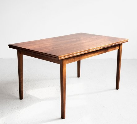 Extendable Danish dining table in rosewood, 1960s
