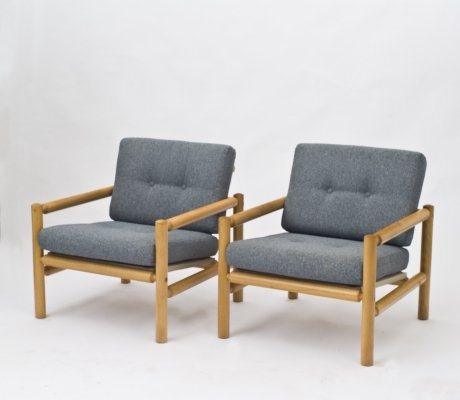 Pair of vintage arm chairs, 1970s