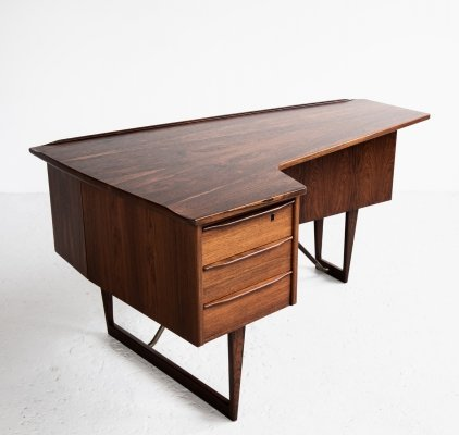 Boomerang writing desk by Peter Løvig Nielsen for Hedensted Møbelfabrik, 1960s