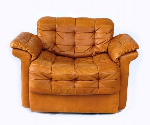 Vintage DS-11 Cognac Leather Lounge Chair by De Sede, 1970s