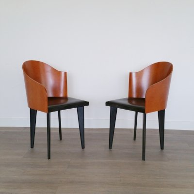 Set of 2 Toscana Chairs by Piero Sartogo for Saporiti Italia, 1980s