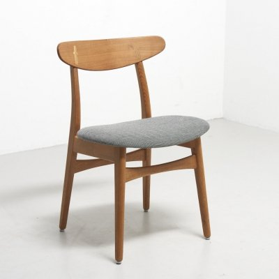 Oak/Teak CH30 Chair by Hans J. Wegner, 1950s