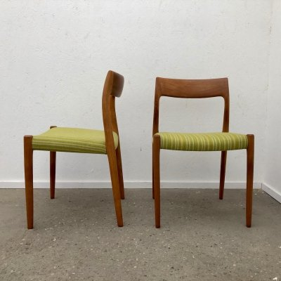 Pair of Niels Otto Møller 'model 77' dining chairs, 1960s