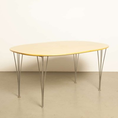 SuperEllipse dining table by Piet Hein & Bruno Mathsson for Fritz Hansen, 1990s