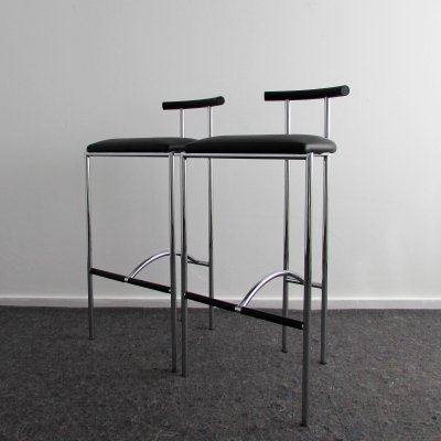 Pair of Tokyo Stools by Rodney Kinsman for Bieffeplast, Italy 1980's