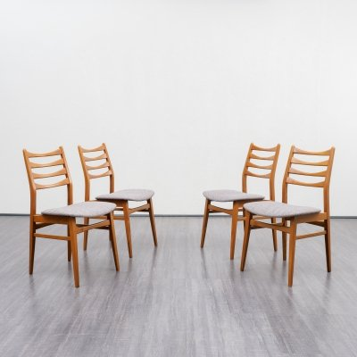 Set of four 1960s dining chairs