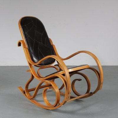 Plywood rocking chair by Luigi Crassevig for Crassevig, Italy 1970s