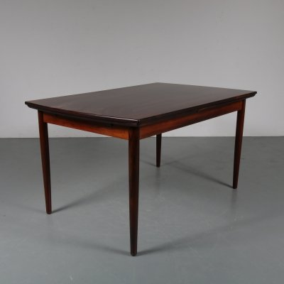 Rosewood extendible dining table, Denmark 1950s