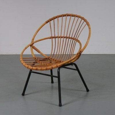 Rattan chair by Dirk van Sliedregt for Gebroeders Jonkers, The Netherlands 1950s