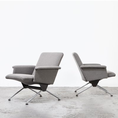 Pair of Andre Cordemeijer 'Model 1432' Lounge Chairs for Gispen, 1961