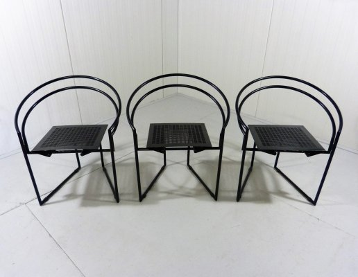 Set of 3 La Tonda Chairs by Mario Botta, 1987