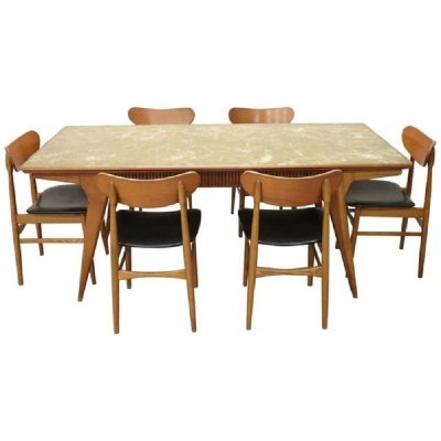 Danish Dining Room Set, 1970s