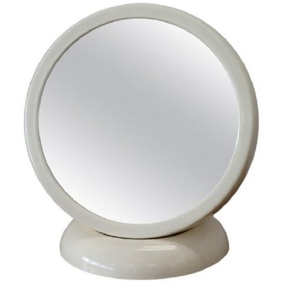 Vintage White Fiberglass Table Mirror, 1960s
