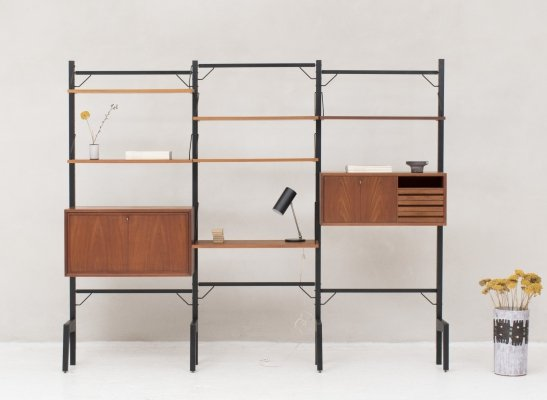Freestanding 'Royal System' wall unit in teak by Poul Cadovius, Denmark 1960