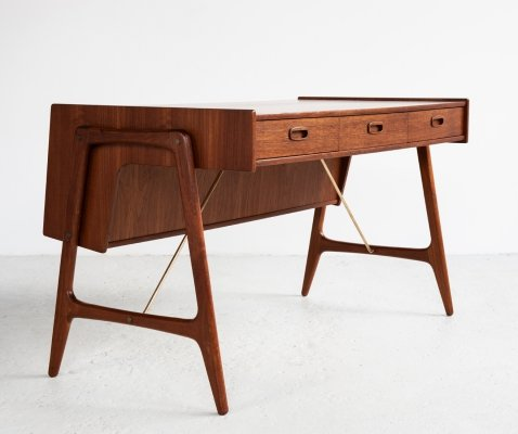 Midcentury Danish desk in teak by Arne Wahl Iversen, 1960s