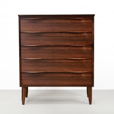 Large rosewood Danish design chest of drawers, 1960s