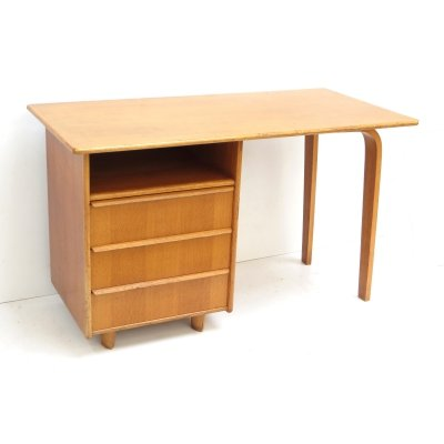 Vintage 'Oak series EE02' desk by Cees Braakman for Pastoe, 1950s