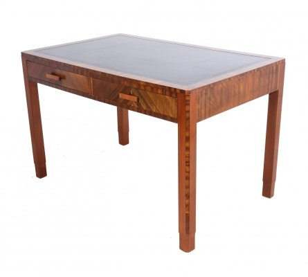 Art Deco Walnut Writing Table by Maple, c1930