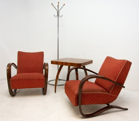 Pair of Bentwood H-269 armchairs by Jindřich Halabala, 1950s