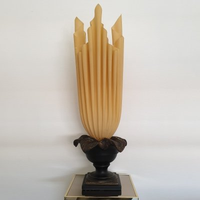 Large flaming torch table lamp by Georgia Jacob