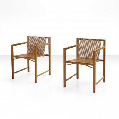 Pair of Ruud-Jan Kokke Slat Chairs, The Netherlands 1986
