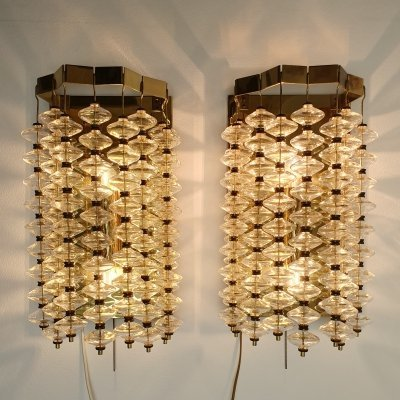 Extremely Rare Estrella wall lamps by Hans Agne Jakobsen for AB Markaryd, 1960s