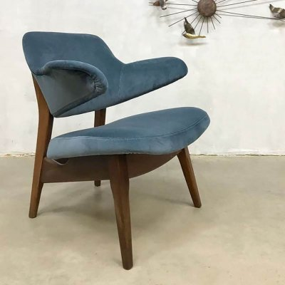 Vintage Dutch design pinguin armchair by Louis van Teeffelen for Webe