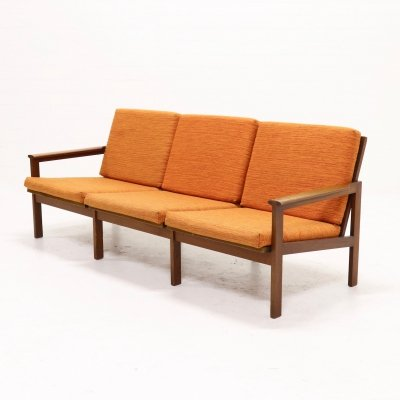 Teak 3-Seater Capella Sofa by Illum Wikkelso for N. Eilersen, 1950s