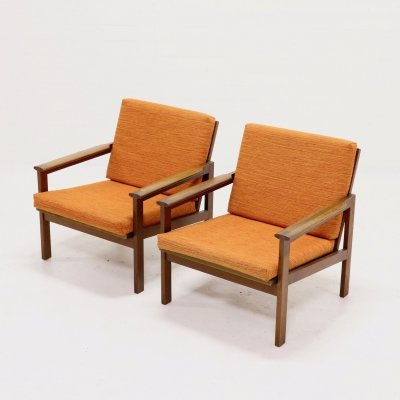 Set of 2 Capella Chairs by Illum Wikkelso for N. Eilersen, 1950s