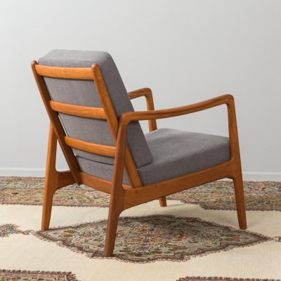 Danish teak armchair FD 119 by Ole Wanscher for France & Søn, 1960s