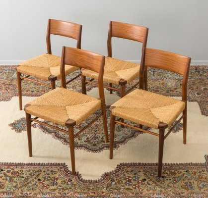 Set of 4 dining chairs model 351 by Georg Leowald for Wilkhahn, 1950s