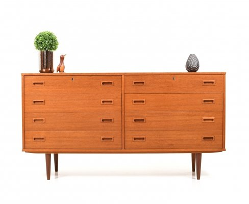 Mid Century Danish Sideboard with Drawers in Teak