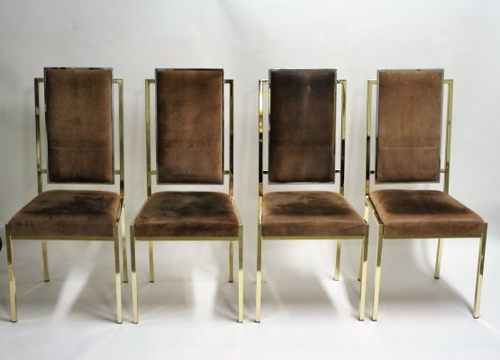 Set of 4 Dining chairs by Romeo Rega, 1970s