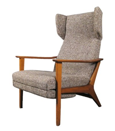 Adjustable Wingback Arm Chair, 1960s