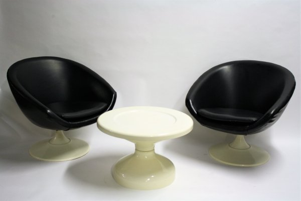 Pair of Space age lounge chairs, 1960s