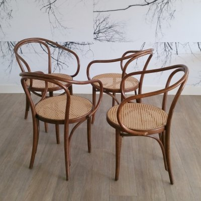 Set of 4 Chairs B 9 / 209 from ZPM Radomsko, 1960s