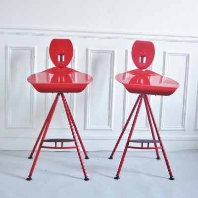 2 x Miro stool by Carlo Forcolini for Alias, 1980s