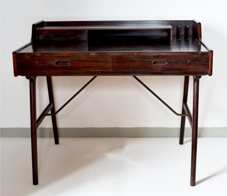 Rosewood desk No. 56 by Arne Wahl Iversen for Vinde Møbelfabrik