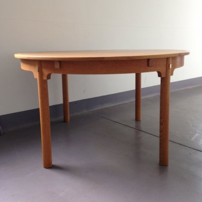 Borge Mogensen Round Oak Oresund Extending Dining Table by Karl Andersson & Soner