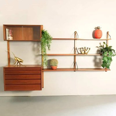 Vintage design wall unit by Poul Cadivious for Royal system