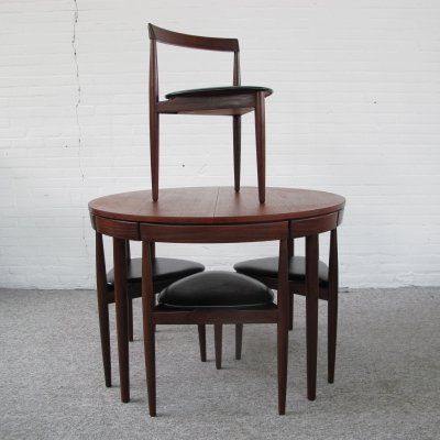 Roundette teak Dining set by Hans Olsen for Frem Rojle, 1960s