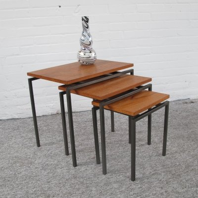 Teak & Metal Nesting Tables, 1960s