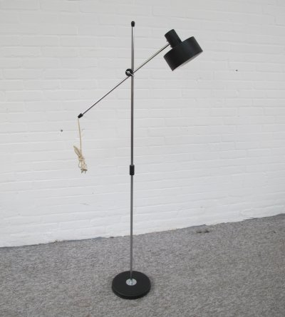 Vintage Dutch design 'hengellamp' floorlamp, 1960s