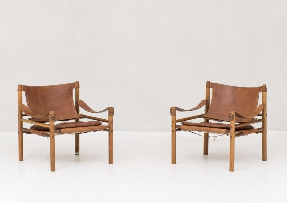Set of 2 Sirocco easy chairs by Arne Norell in Sweden, 1964
