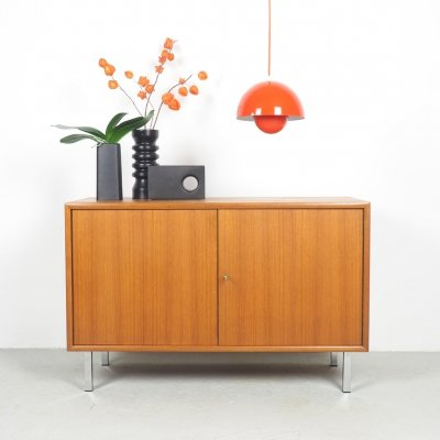 Small teak sideboard by WK Möbel with 2 doors, 1960's