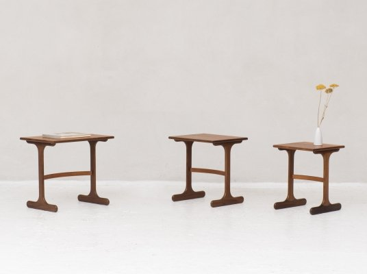 Set of 3 'Fresco' nesting tables by Victor Wilkins for G-PLAN